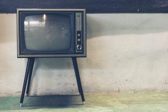 Une télévision pas toute jeune