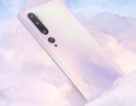 Le Xiaomi Mi Note 10 en version blanche