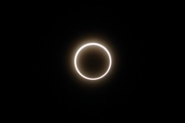 Une éclipse annulaire
