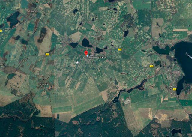 Une vue du ciel de la région (capture Google Earth)