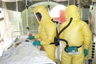 Un malade souffrant d'Ebola en quarantaine