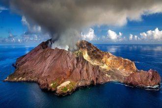 Le volcan de White Island en Nouvelle Zélande