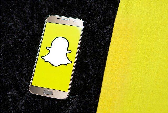 L'écran de Snapchat