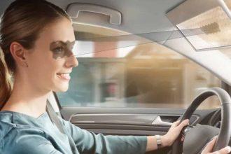 Bosch a présenté un pare-soleil intégrant un écran LCD transparent