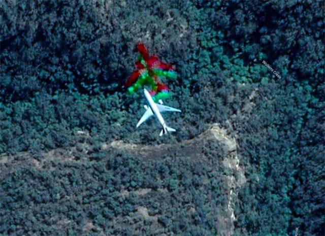Il y a un drôle d'avion arc-en-ciel dans Google Maps