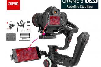 Le Zhiyun Crane 3, un stabilisateur qui propose un form factor vraiment différent.