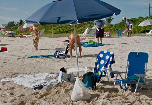 On peut remercier ce parasol qui est au bon endroit au bon moment