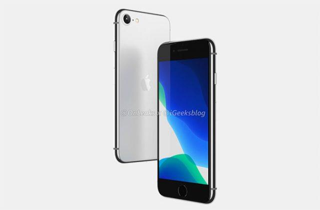 L'iPhone SE 2, aussi connu comme l'iPhone 9, de face et de dos