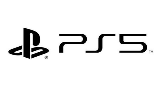 Le logo de la PS5 en blanc