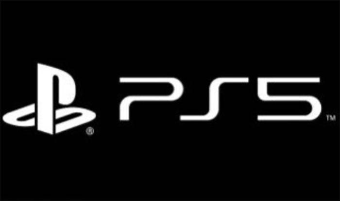 Le logo de la PS5 en noir