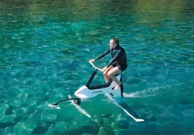 Manta5 a dévoilé un vélo qui fonctionne sur l'eau