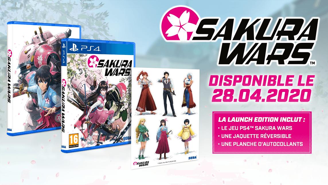 Sakura Wars confirmé en Europe et en français pour le 28 avril prochain