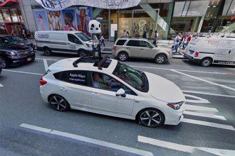 Tiens, une Apple Car se balade dans Google Maps