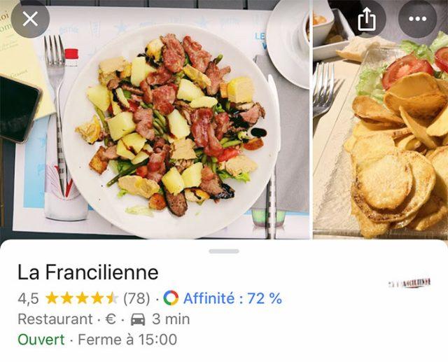 Saviez-vous que Google Maps peut afficher votre score de compatibilité avec les restaurants ?