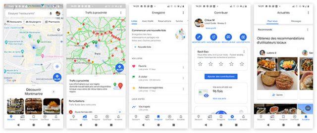 La nouvelle interface de Google Maps