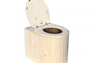 La Coccinelle, l'un des modèles de toilettes sèches proposés par Lécopot