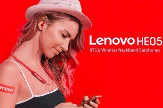 Les Lenovo HE05 en version rouge (le modèle vendu est noir)