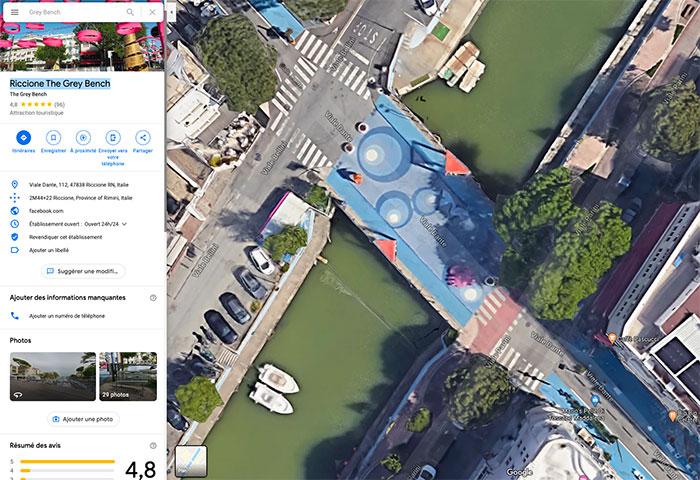 On a trouvé le banc le plus populaire de Google Maps
