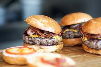 La photo d'un hamburger