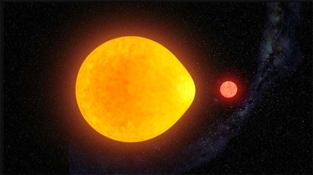 Cette étoile est déformée par l'attraction gravitationnelle de sa planète