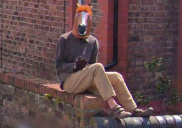 On a encore trouvé un homme cheval dans Google Maps