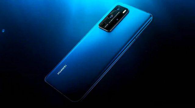 Le Huawei P40 Pro en couleur bleue