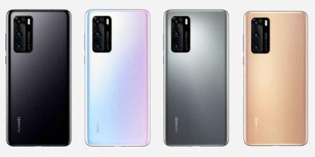 Les différents coloris du Huawei P40 Pro