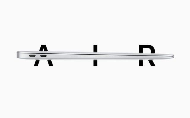 Le MacBook Air (2020) propose deux connecteurs Thunderbolt 3