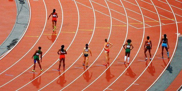 Une course pendant les jeux olympiques