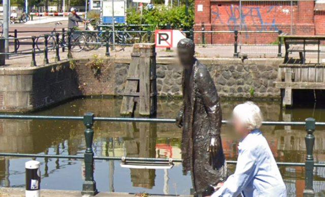 Sur Google Maps, il arrive que le visage des statues soit flouté