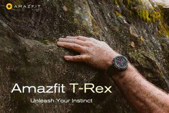 L'Amazfit T-Rex en pleine action