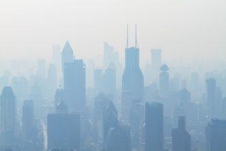 La pollution d'une ville