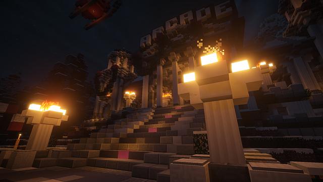 Une scène de Minecraft