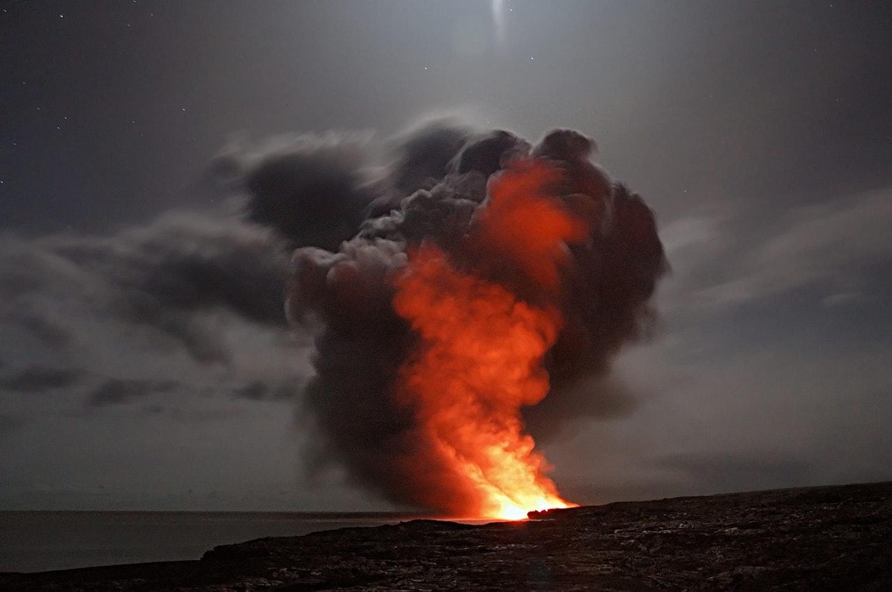 Un volan en éruption