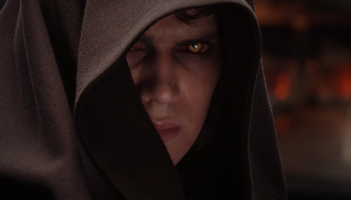 Anakin lors de sa transformation en Dark Vador