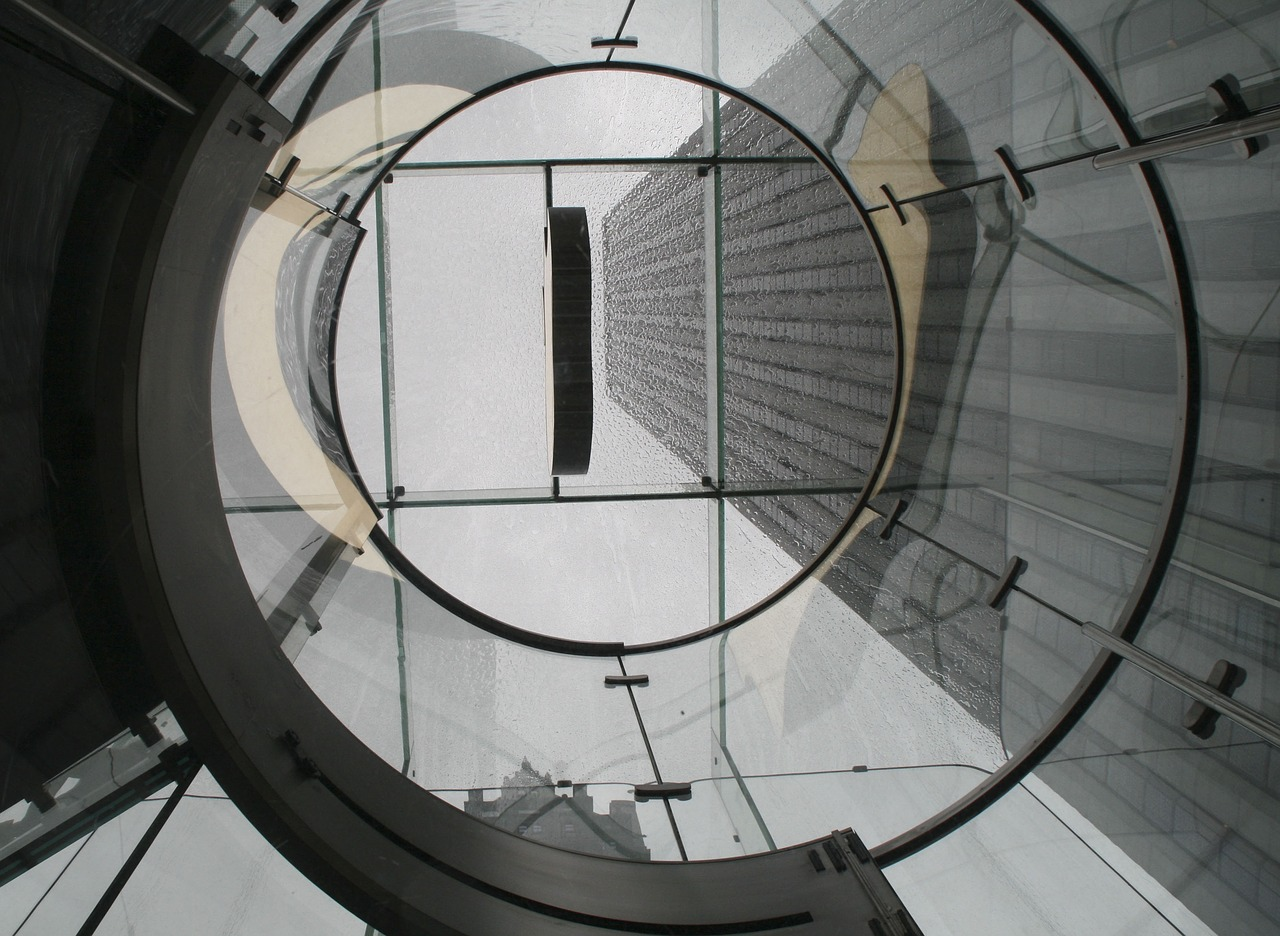Le plafond en verre d'un Apple Store
