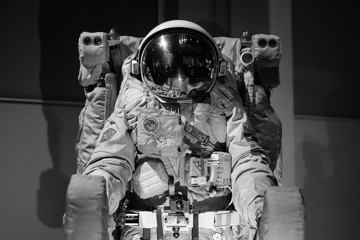 Un astronaute dans sa combinaison