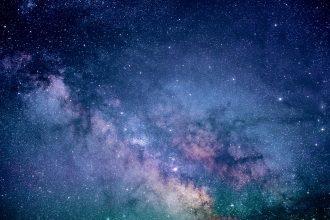 La photo d'un ciel étoilé
