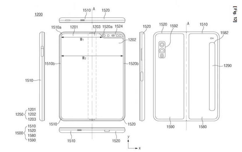 Le brevet trouvé par Let's Go Digital fait beaucoup penser au Galaxy Fold