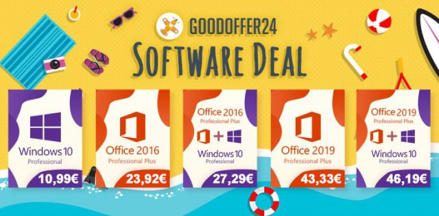 GoodOffer24 propose plein de promos sur les clés de Windows et Office.