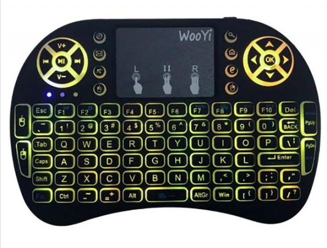 L'i8 Mini Wireless Keyboard en version rétro-éclairée