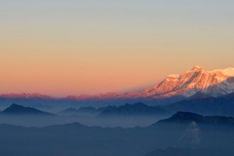 Une photo de l'Himalaya
