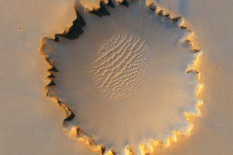 La planète Mars, vue de dessus
