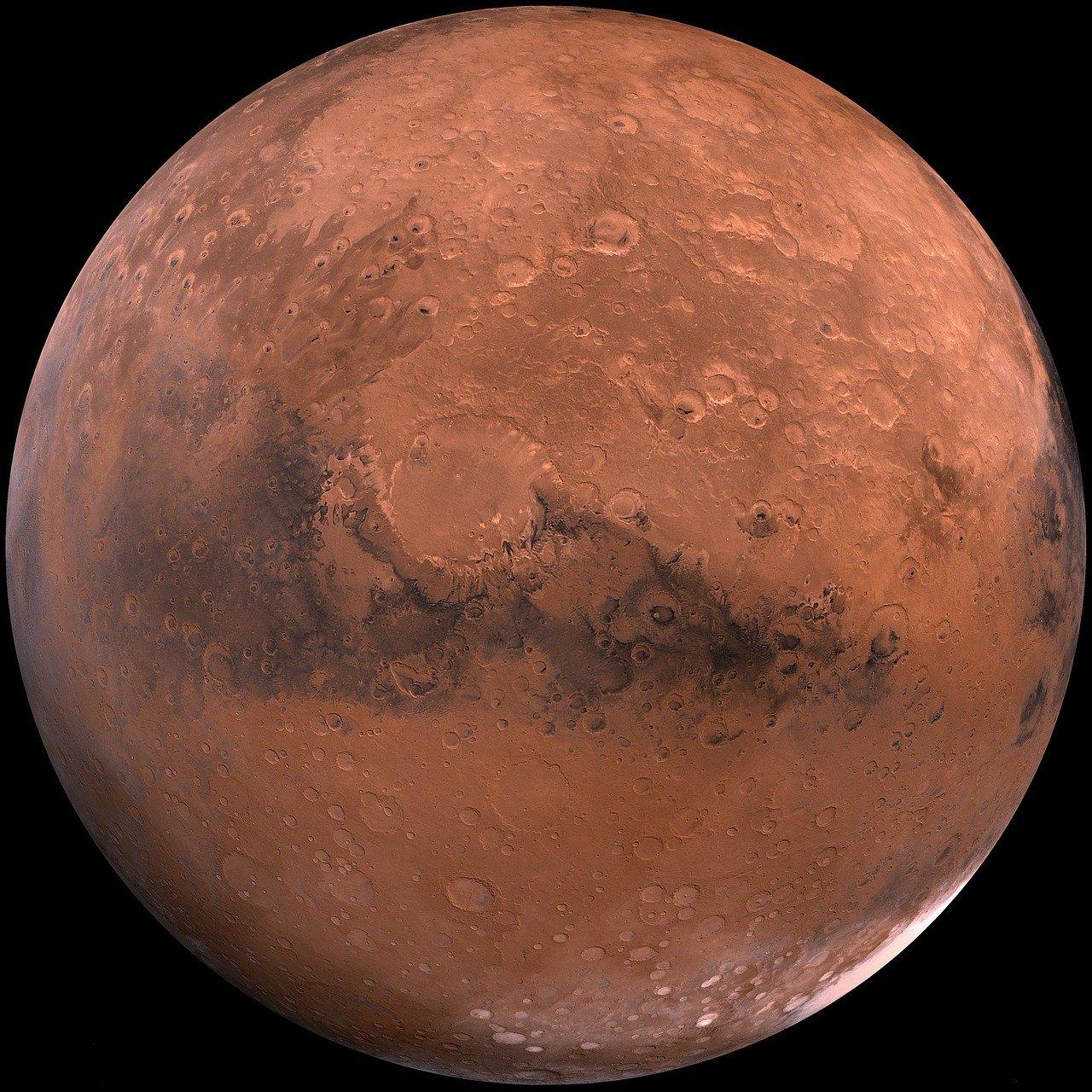 Une photo de Mars