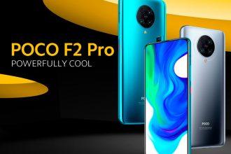 Le Poco F2 Pro en version grise et bleue