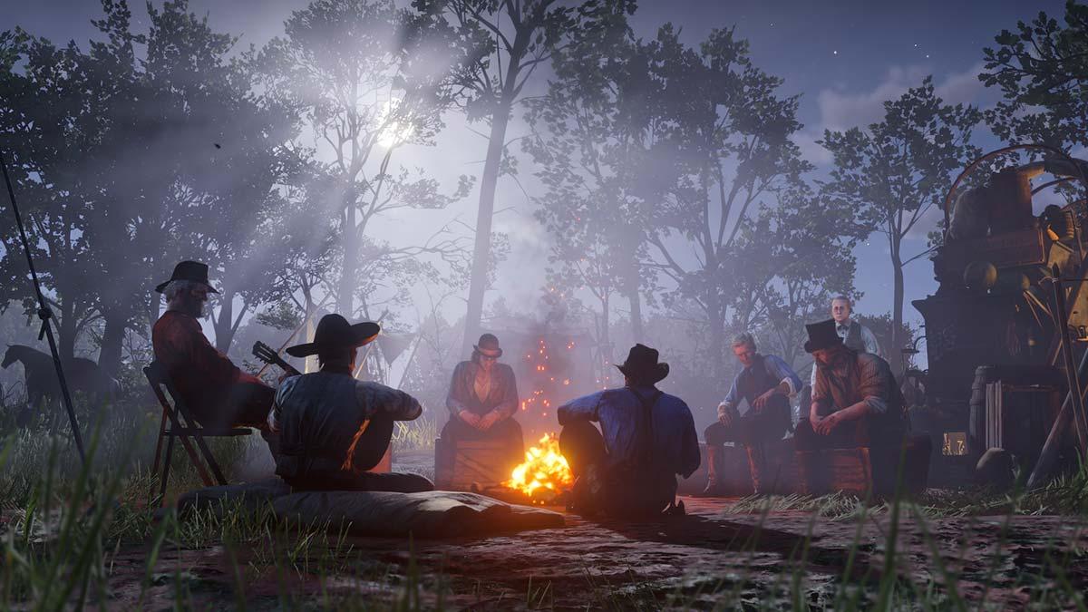 Un feu de camp dans Red Dead Redemption 2 - crédits Rockstar
