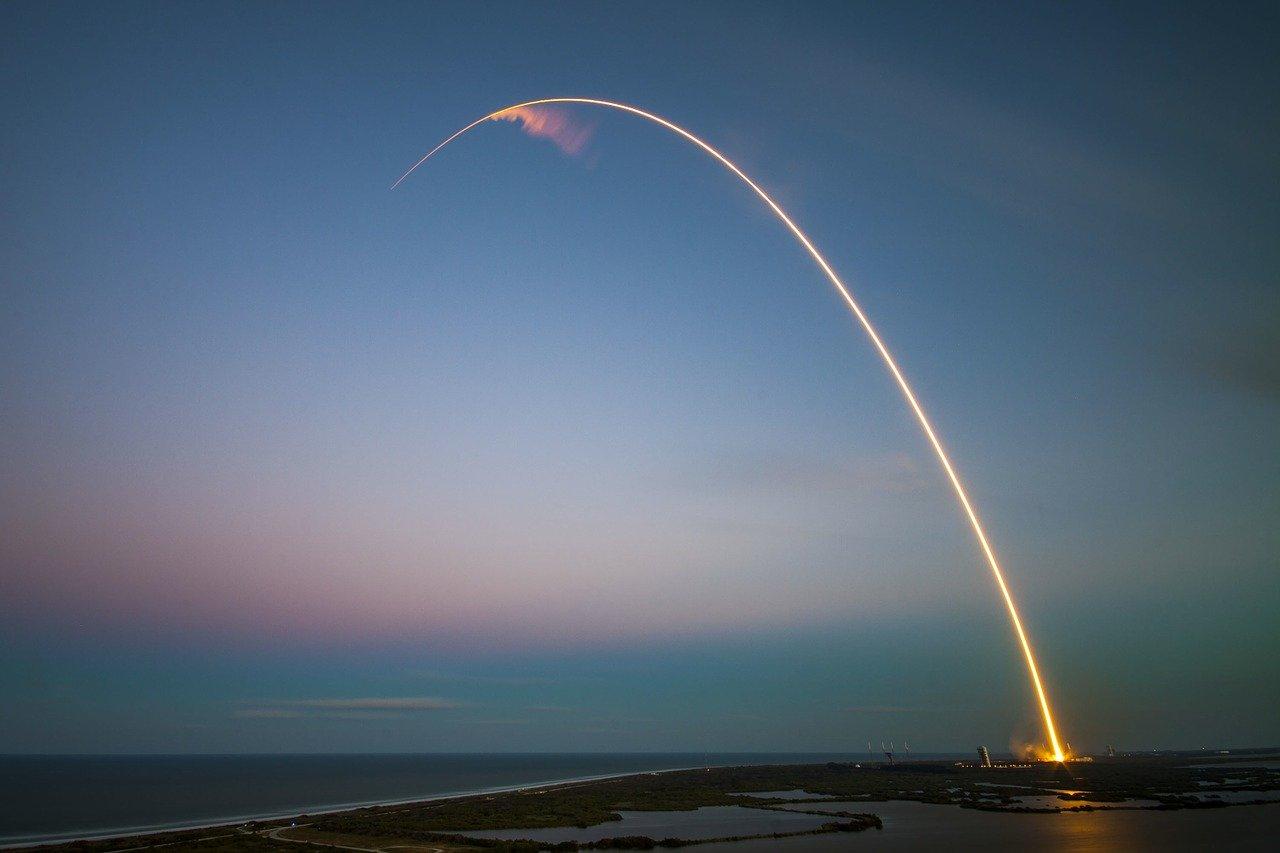Le lancement d'une fusée