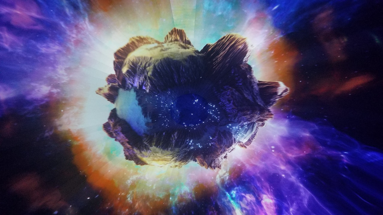 Un astéroïde flottant dans l'espace