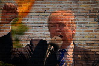 Un montage photo de Donald Trump