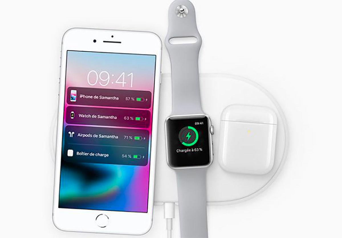 L'AirPower d'Apple, un tapis de charge capable de charger trois appareils différents